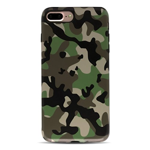 GOLINK iPhone 7 Plus Case/iPhone 8 Plus Case for Men, Camouflage Camo IMD Printing Slim-Fit Anti-Scratch Shock Proof Anti-Finger Print Flexible TPU Gel Case for iPhone 7/8 Plus - Brown
