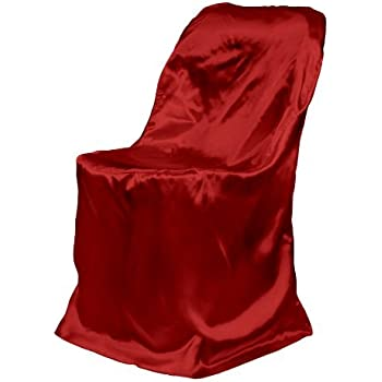 Amazon Com Linentablecloth Satin Folding Chair Cover Red
