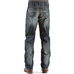 Cinch Men's White Label Relaxed Fit Mid-Rise Jeans Dark Stonewash Dark Stone 33W x 34L