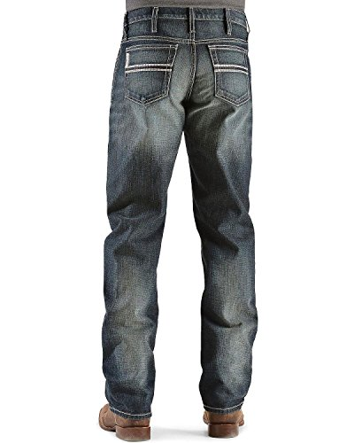 Cinch Men's White Label Relaxed Fit Mid-Rise Jeans Dark Stonewash Dark Stone 40W x 36L