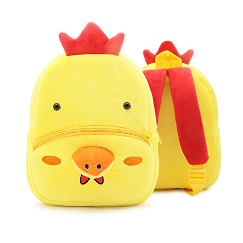 Price comparison product image Baby Fairyland Zoo Little Kids and Toddler Backpack For School Boys Girls Lunch Box (Chicken)