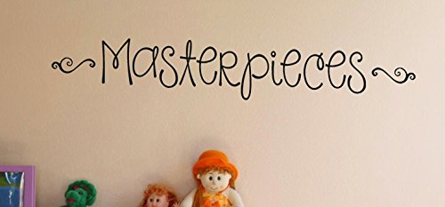 Wall Decor Plus More WDPM3161 Sticker Lettering Masterpieces for Kids Artwork Display area, 36-Inch x 6-Inch, Black -