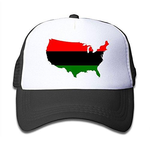 DNUPUP Kid's America Africa Flag Map Adjustable Casual Cool Baseball Cap Mesh Hat Trucker Caps