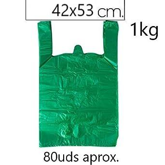 Material Polietileno de Alta Densidad Con Asas Blanco, 30 x 40-200 uds EUROXANTY/® Bolsas de Pl/ástico Tipo Camiseta Alta resistencia Apta para Alimentos Reutilizables y Reciclables
