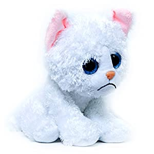 "Linky the Sad Cat Plush - 9"" Sitting Angry Cat Stuffed Animal from Buddy Plush"