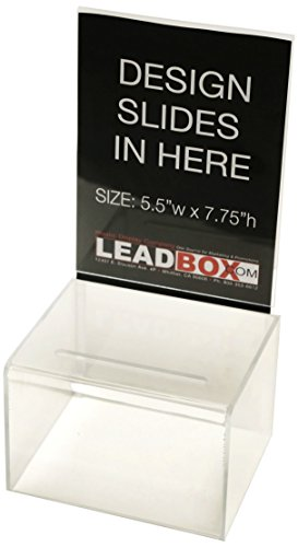 Inexpensive Suggestion Box (Clear) | For Every Occasion | Tips, Donations, Surveys and much more! | Great for businesses and schools to use | (2 Pack) by Prime Office Supplies (Image #1)