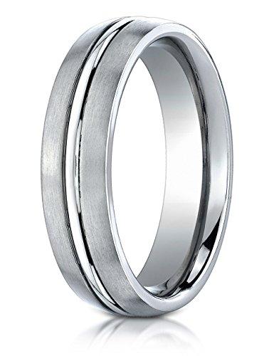 6mm Comfort Fit Titanium Wedding Band/Ring Size 10 ()