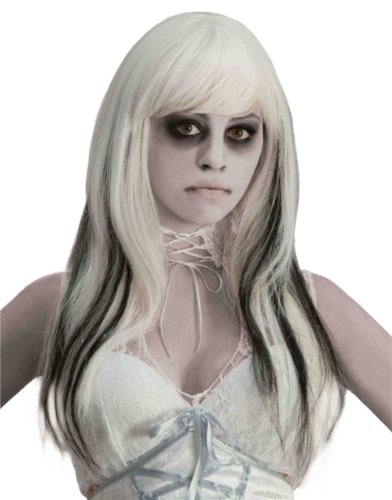 Forum Black Streaked Phantom Wig, White, One Size