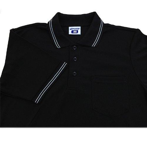 Champro Dri-Gear Umpire Polos Black 2Xl (Light Blue Umpire Shirt)