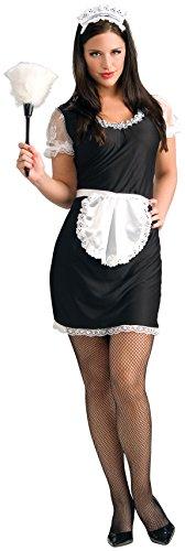 Rubie's Women's French Maid Costume, Black/White,