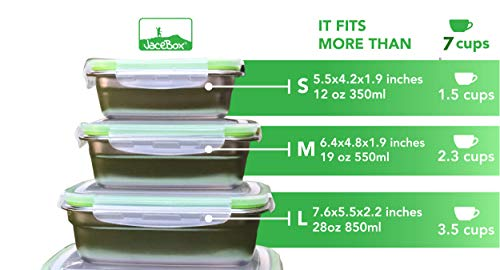 c6b2d632d79e JaceBox Stainless Steel Lunch Containers - LunchBox Containers ...