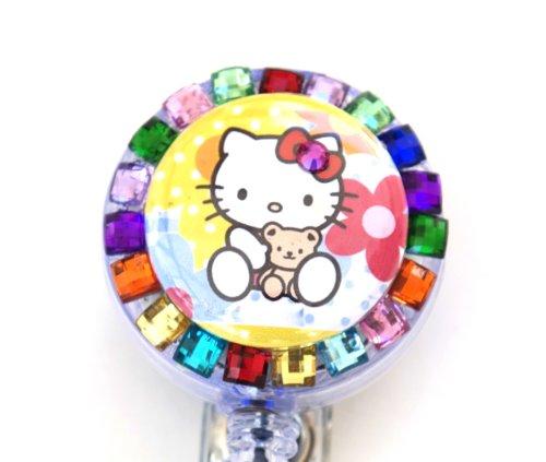 Baby Hello Kitty Rhinestone Reel Badge