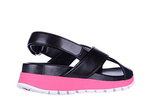 Prada sandales femme en cuir noir EU 36 3X6022 OXT F0T79