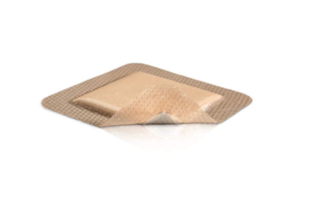 Abena Silicone Foam Dressing 5 X 5 Inch Square Adhesive with Border Sterile Box of 10