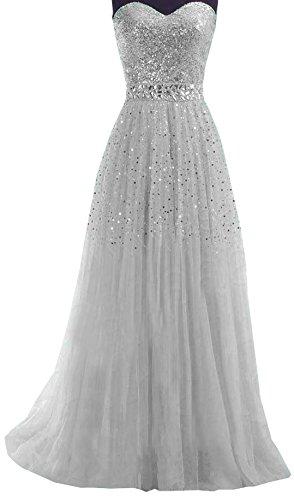 de Crmonie Paillettes Tulle Robe Cocktail t Bandeau Maxi de Femme Soire Elegant Bretelles Bal Sexy Robes Sans Gris Bustier a0OTfv0