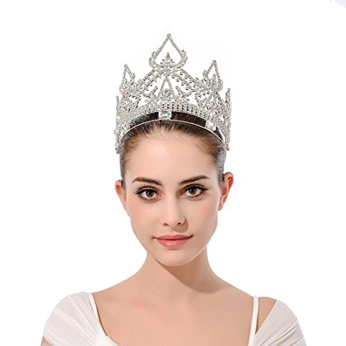 DcZeRong Women Crowns Queen Crowns For Women Prom Pageant Party Rhinestone Crystal Full Crowns by DcZeRong (Image #7)