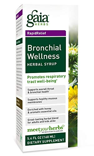 (Gaia Herbs Bronchial Wellness Herbal Syrup, 5.4-Ounce Bottle)