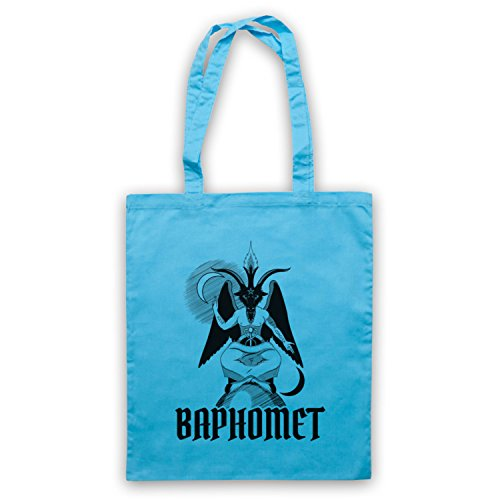 Baphomet Occult Sabbatic Goat Deity Bolso Azul Cielo