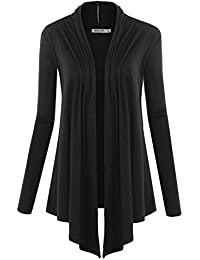 LL Womens Long Sleeve Draped Open Front Cardigan