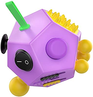 Simon 12 Sided Fidget Cube Decompression Toys For Children And Adults Purple Amazon Com Au Toys Games