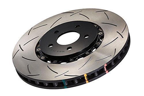 () 5000 Series 2-Piece Slotted Disc Brake Rotor with Black Hat, Front - DBA 52604BLKS