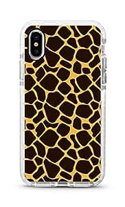 Stylizedd iPhone XS/X Cover Impact Pro White Military Grade Shockproof Case - Giraffe Design Print Full