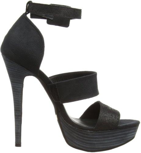 Gas Footwear Firestar - Zapatos con tira de tobillo Mujer Negro