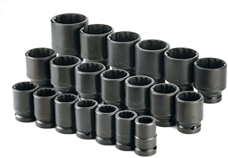 SK Hand Tools 34301 8-Piece 1//2-Inch Drive 6 Point Swivel Fractional Impact Socket Set