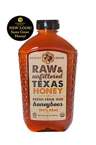 Desert Honey - Desert Creek Honey Raw, Unfiltered, Unpasteurized Texas Honey, 2 lb, 32 oz.