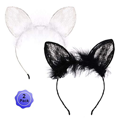 Cat Ears Headband Lace Hair Bands Sequins Hair