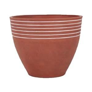 "PSW Round Pot Planter Size: 12"" x 10"", Color: Terra Cotta"