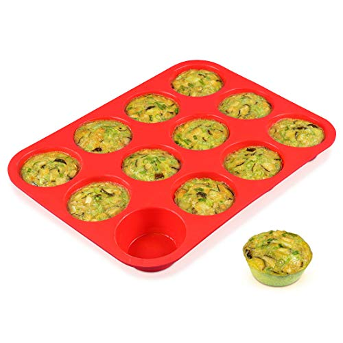 12 Cups Silicone Muffin Pan product image