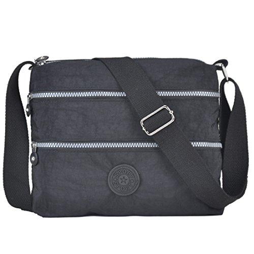 Functional Multi Roomy Pockets Crossbody Bag Volganik Rock Lightweight Nylon Waterproof Handbag by Volganik Rock