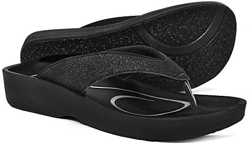 AEROTHOTIC Orthotic Comfort Midfoot Strap Sandals and Flip Flops with Arch Support for Comfortable Walk