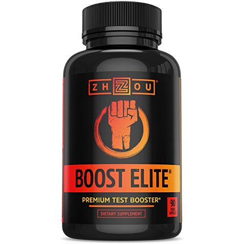 BOOST ELITE Test Booster Formulated to Increase T-Levels & Energy - 9 Powerful Ingredients Including Tribulus, Fenugreek, Yohimbe, Maca & Tongkat Ali, 90 Veggie ()