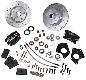 - SSBC Performance Brakes W156-7 At The Wheels Only; Competition Street 4-Piston Drum To Disc Conversion Kit; Alum Calipers; Front; Bolts To Stock Drum Brake Spindles;