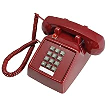 Vintage Retro Telephone Creative Antique Office Fixed Telephone landline Home Nostalgic Antique American Telephone,Red