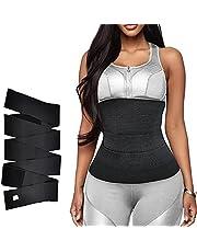 Snatch Me Up Bandage Wrap Onzichtbare Wrap Taille Trainer Tape Verstelbare Comfortabele Lumbale Taille Ondersteuning Riem voor Afslanken Taille Trainer Corset Trimmer Body Shaper Riem voor Vrouwen Zwart