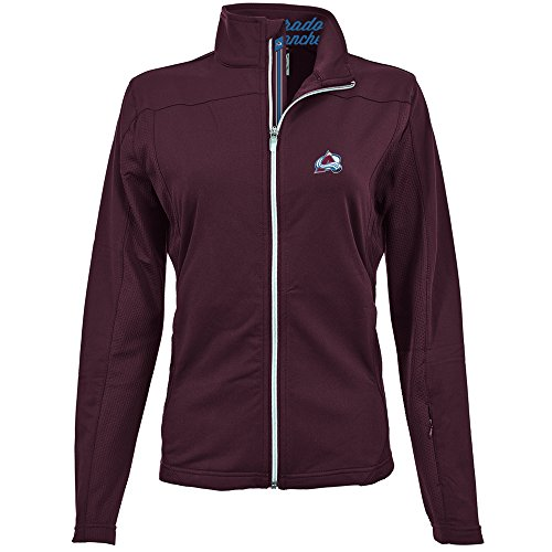 - Levelwear LEY9R NHL Colorado Avalanche Women's Aurora Insignia Banner Stripe Full Zip Mid-Layer Apparel, Large, Maroon