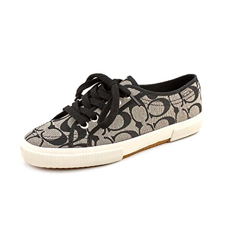 Coach Dames Kalyn Fashion Sneaker (zwart-wit, 8.5)