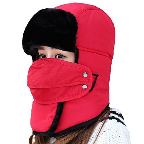 Para Cálido Esquí Invierno De Hombres HikingWindproof Solapa Unisex Máscara Sombrero De Esquí Red Invierno El Hughting Patinaje Sombreros Bombardero Oído Sombrero v5FnOdqF