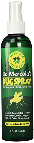 Dr Mercola Bug Spray - 8 Fl Oz Bottle - 100% Deet Free, Uses Essential Oils to Repel Mosquitoes, Fleas, Chiggers, Ticks, and Other Biting Insects, Pleasant Smell, No Harsh Chemicals by Dr. Mercola (Image #1)