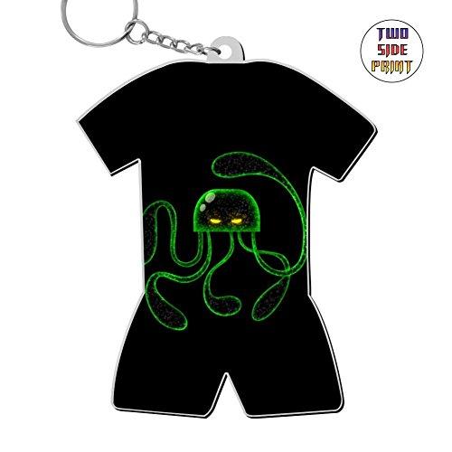 Custom Keychain Cartoon Octonauts Keyring World Cup Polo Shirt Logo Key Ring Key Fob Alloy Nice Gift -