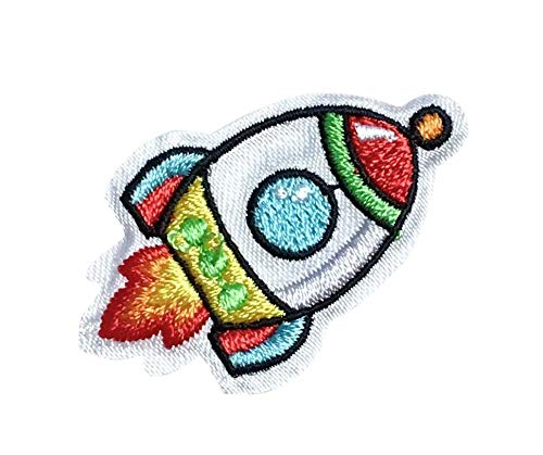 Rocket - Outer Space/Space Shuttle - Iron on Applique/Embroidered ()