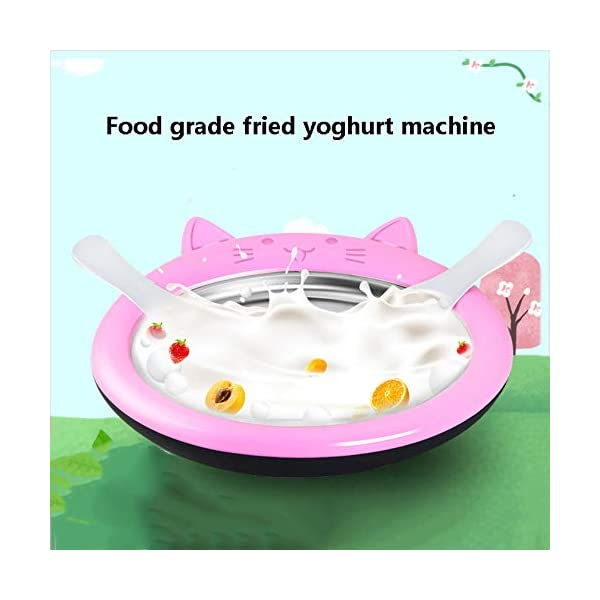 Gyz Macchina per Ghiaccio Fritto Macchina per Yogurt Fritto Rotoli di Ghiaccio Fai-da-Te per Bambini, Griglia per Gelato… 7 spesavip