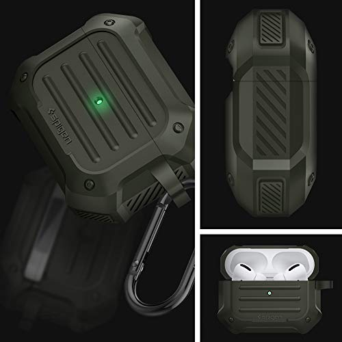 Spigen Tough Armor Designed for Apple Airpods Pro Case (2019) - Military Green