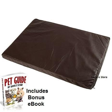 Perro piel sintética cama de espuma interior extraíble, lavable antideslizante Base Ideal para Ancianos perros o perros con conjunto o Spinal Problems.
