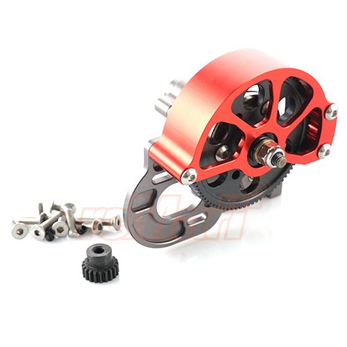 Xtra Speed Aluminum Complete Assembled Transmission Gearbox For Axial SCX10 #XS-SCX22501GM
