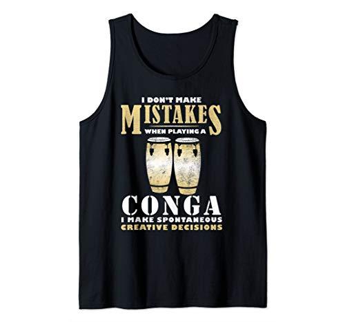 - Conga Drum Tumbadora Drummer Vintage Congas Player Gift Tank Top