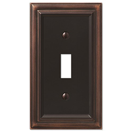 AmerTac 94TVB Amerelle Continental Aged Bronze Cast 1 Toggle Wallplate by Amerelle